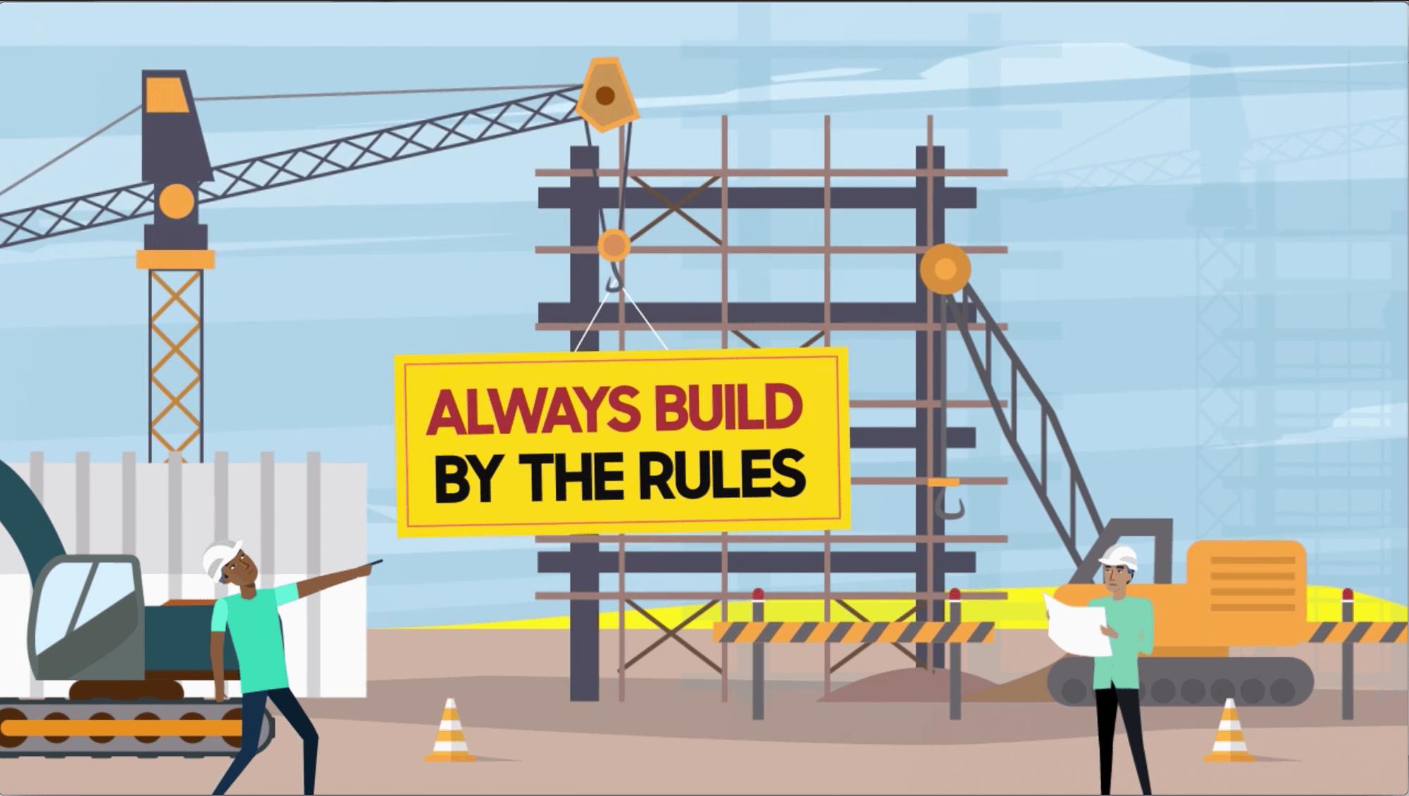 Illustration about building contractors